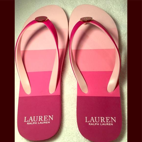 f0997f55dba58 Ralph Lauren Elissa Hot Pink Thong Flip-Flops